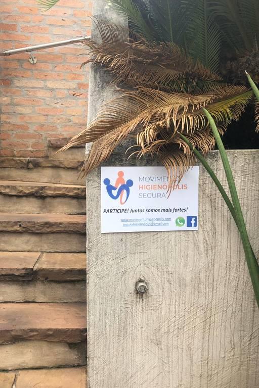 A maior parte dos prédios de Higienópolis que fazem parte do movimento adotaram as placas como forma de intimidar criminosos