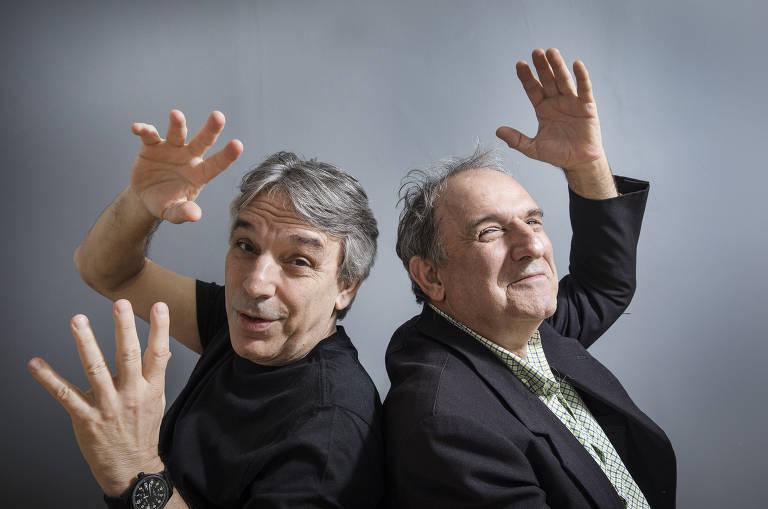 Os irmãos narradores e radialistas Oscar Ulisses e Osmar Santos