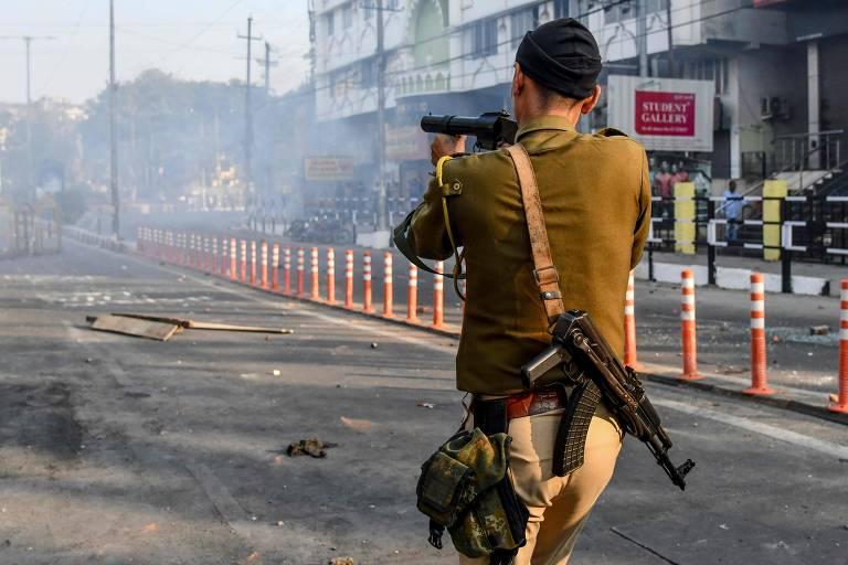 Protestos na Índia