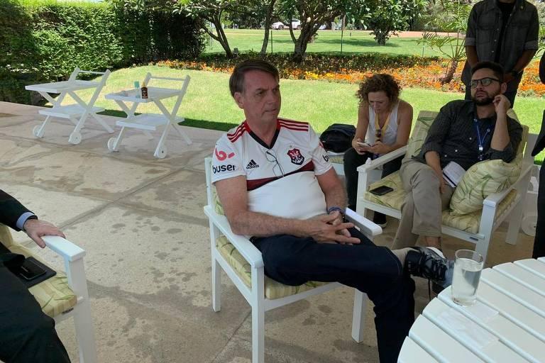 Bolsonaro participa de café da manhã com jornalistas na manhã deste sábado (21) no Palácio da Alvorada