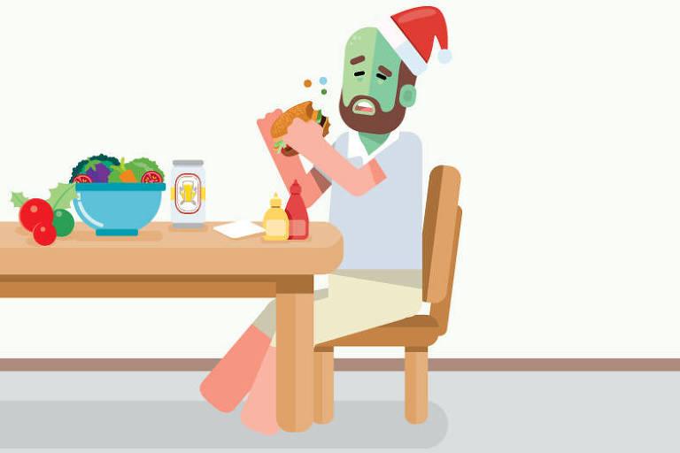 Ilustração para matéria Viva bem sobre intoxicação alimentar