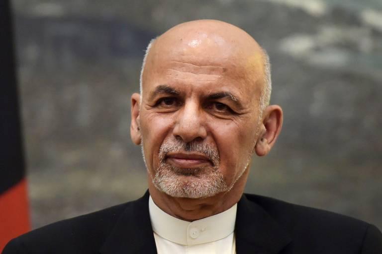 O presidente do Afeganistão, Ashraf Ghani, durante conferência no palácio presidencial, em Cabul