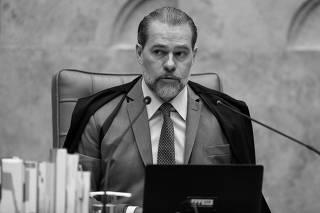 O presidente do Supremo, ministro Dias Toffoli, em sessão em Brasília (DF)