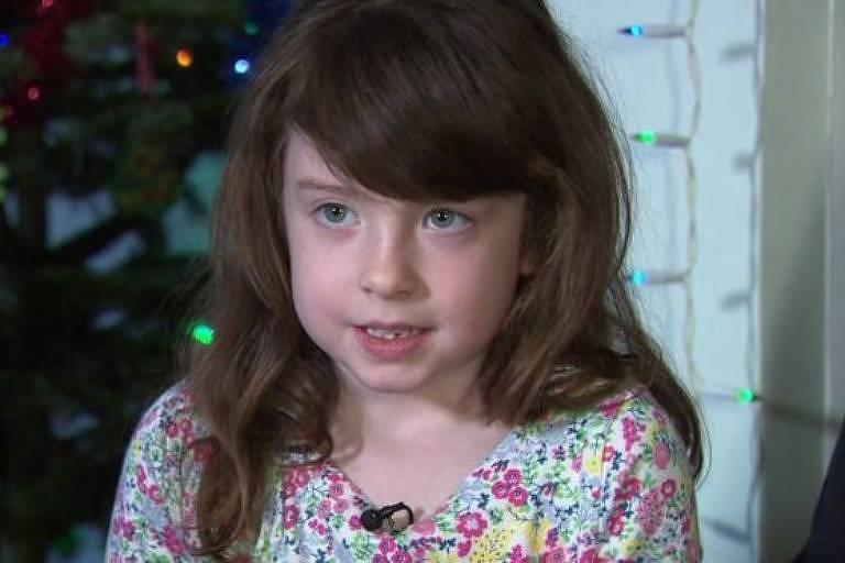 Florence Widdicombe, de seis anos, diz que encontrar a mensagem a deixou chocada