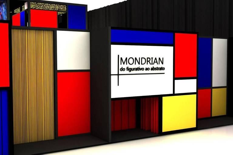 Museu da Imaginação recebe a exposição imersiva Mondrian: do Figurativo ao Abstrato