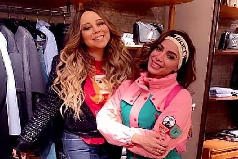 Anitta encontra Mariah Carrey ao acaso em loja em Aspen, nos Estados Unidos