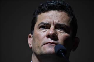 Sergio Moro, ministro da Justiça, durante evento em Brasília (DF)