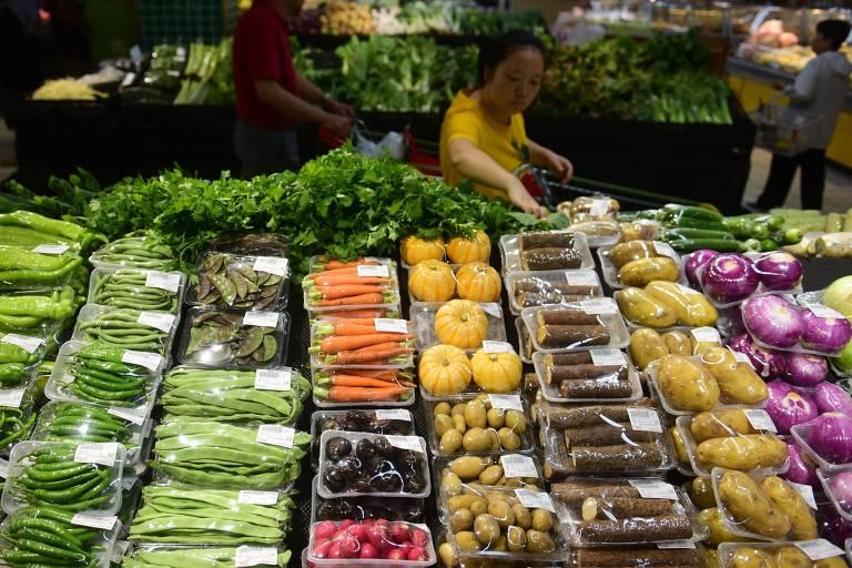 Vegetais em supermercado