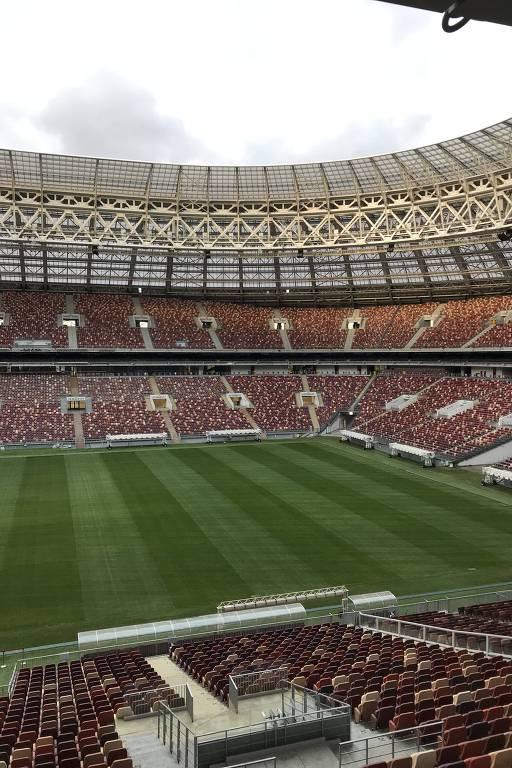 O estádio estádio Luzhniki, que recebeu a final da última Copa do Mundo, em Moscou, na Rússia