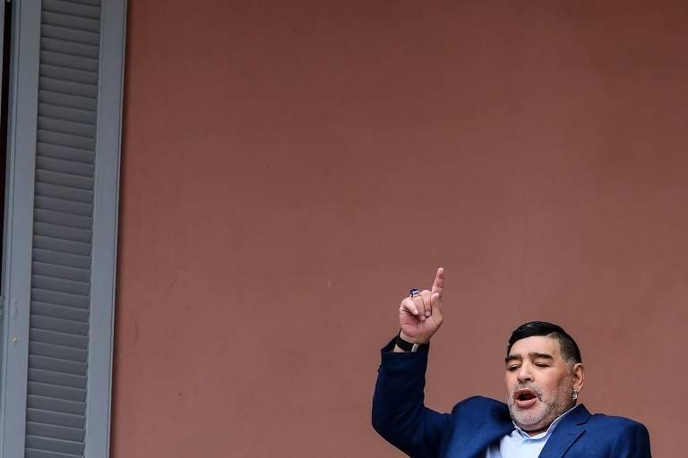 Maradona visita Fernández na Casa Rosada