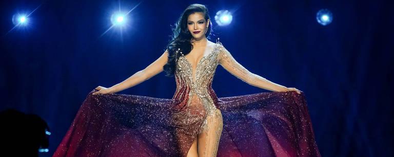 A tailandesa Paweensuda Drouin, que ficou em quinto lugar no Miss Universo 2019