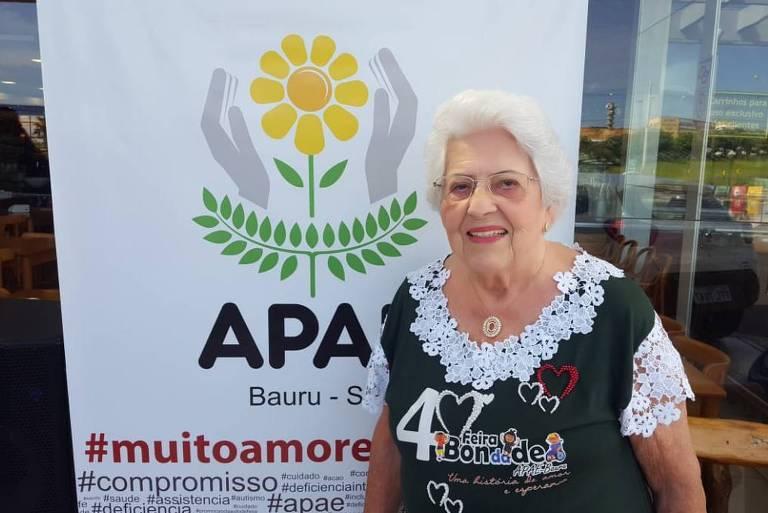 A professora Olga Bicudo Tognozzi dedicou sua vida ao voluntariado