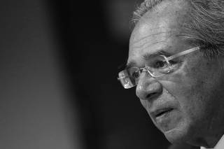 Brazil's Economy Minister Paulo Guedes attends a meeting with Social Liberal Party (PSL) lawmakers in Brasilia