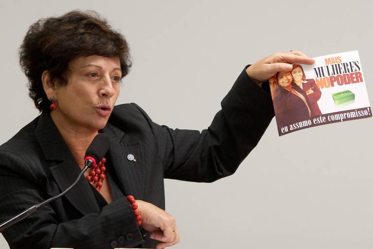 Ministra Nilcea Freire fala na Comissão de Fiscalização e Controle Financeiro da Câmara sobre realização de pesquisa durante campanha