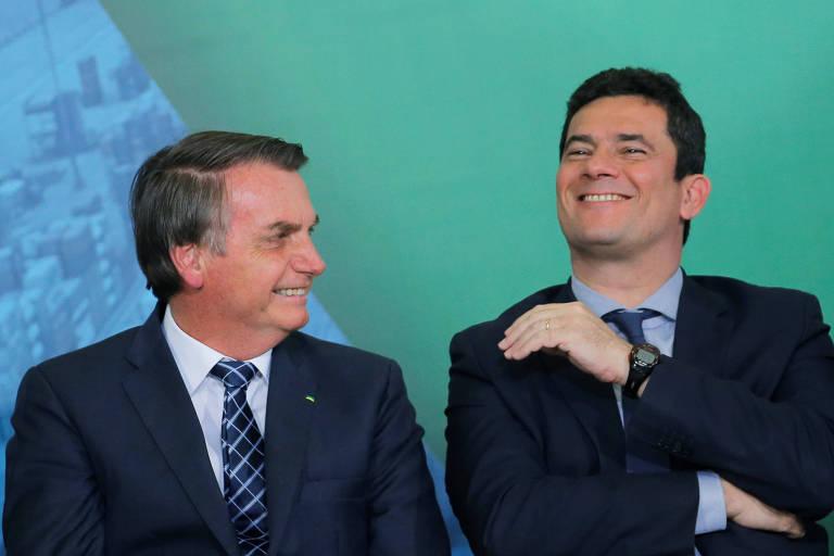 Bolsonaro e Moro, no Planalto