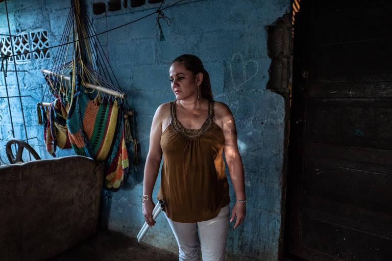 Karen Lacayo Rodriguez, que participou da greve de fome em uma igreja cercada durante nove dias pela polícia