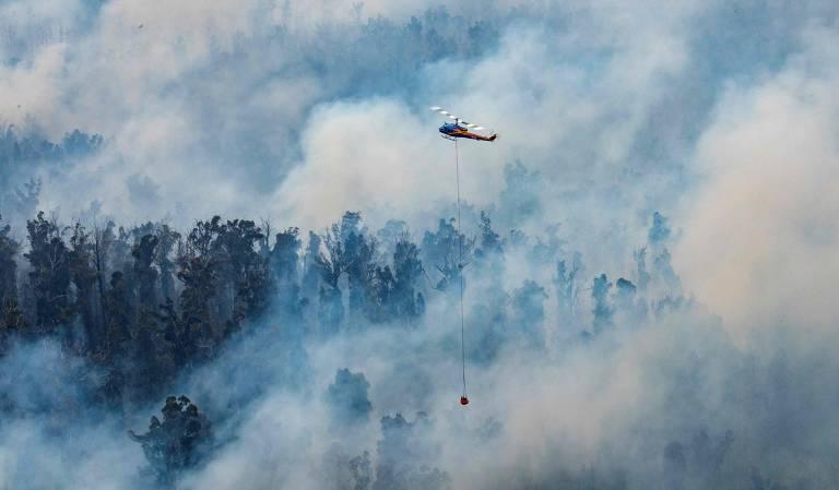 Incêndio se espalha na Austrália