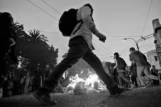 Protests against Chile's government in Valparaiso