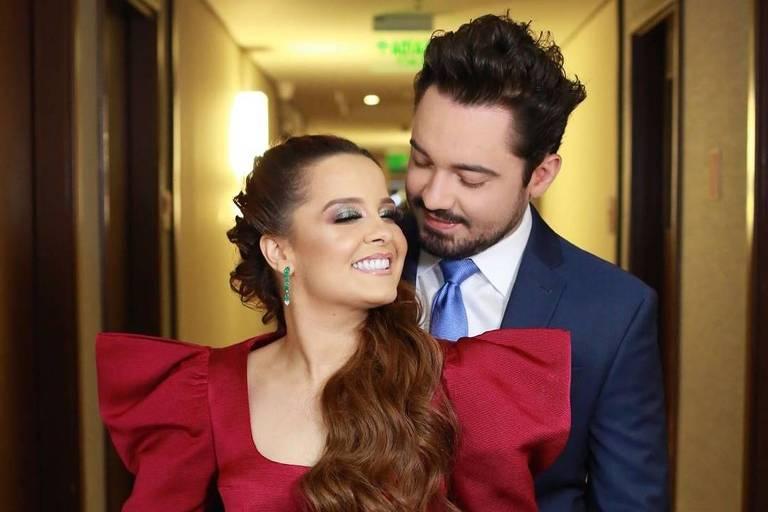 Maiara e Fernando no casamento de Zé Neto e Natália
