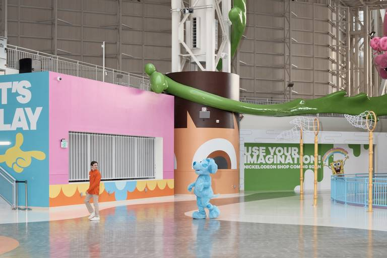Parque da Nickelodeon no shopping American Dream