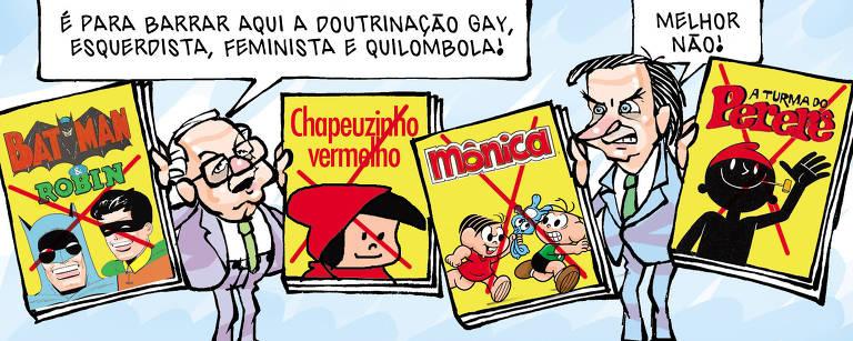 Como foi o ano nas charges do cartunista Cláudio