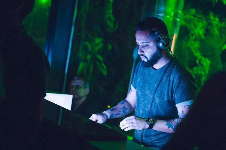 O DJ Sérgio Oliveira