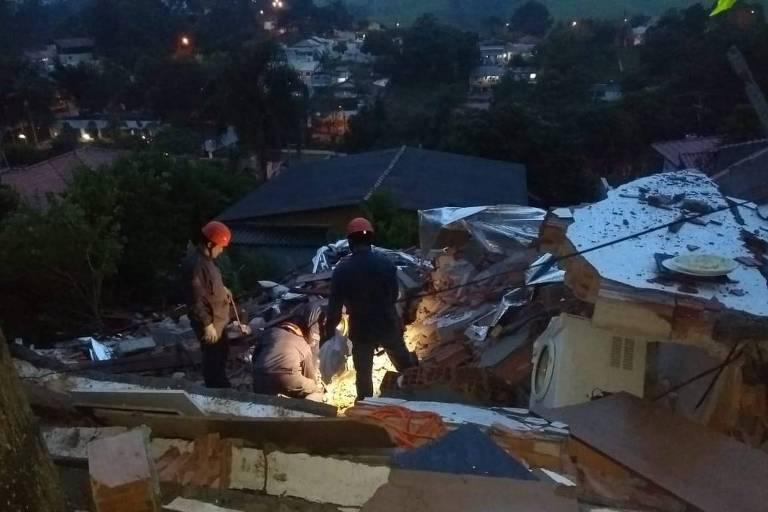 Escombros de desabamento