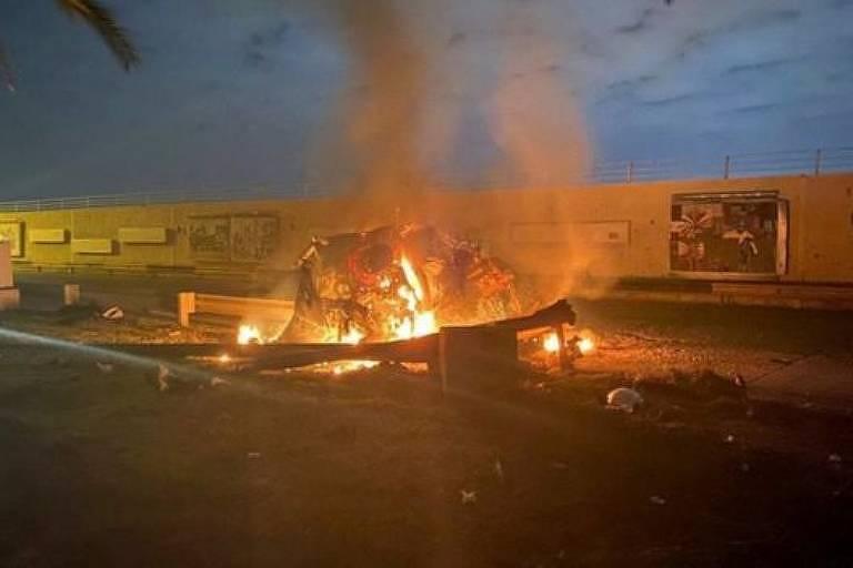 Comboio do general Soleimani foi alvo de ataque de drone quando deixava o aeroporto