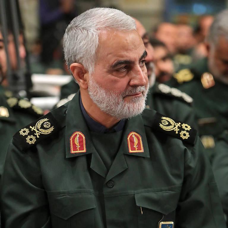 O general iraniano Qassim Suleimani, morto em um ataque ao aeroporto no Iraque feito pelos EUA