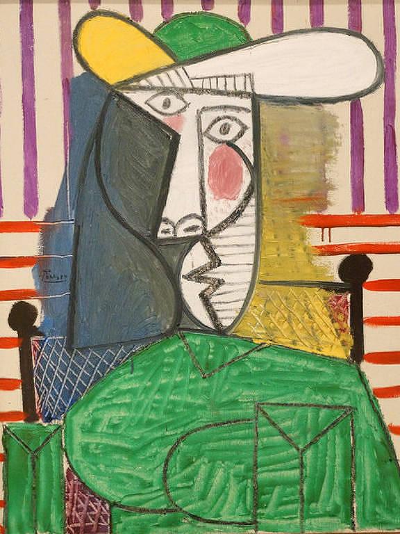 """Obra """"Busto de uma mulher"""", de Pablo Picasso, 1944"""