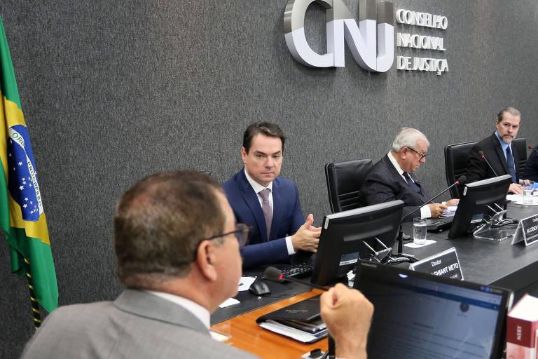 Sessão ordinária do CNJ, com o ministro Dias Toffoli, no fim do ano passado