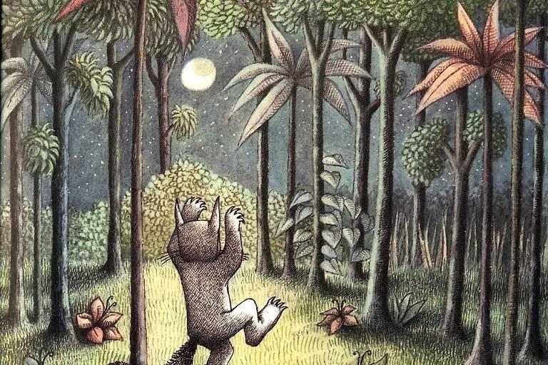"""Ilustração de """"Onde Vivem os Monstros"""", de Maurice Sendak"""