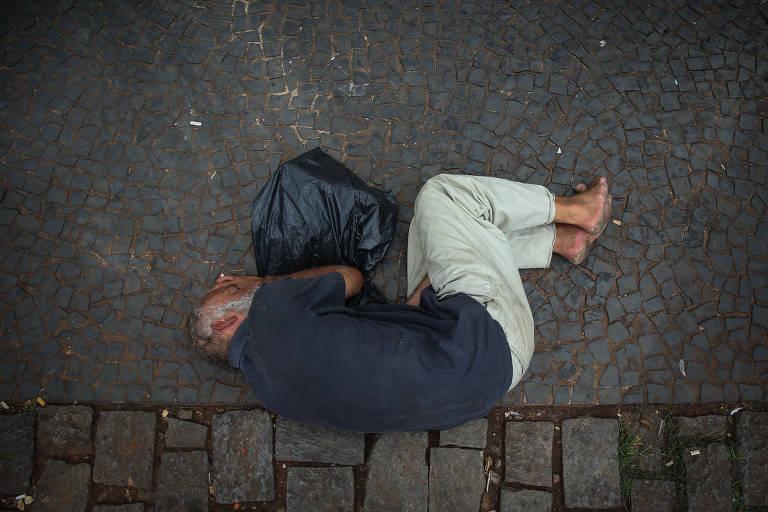 Moradores de rua na região central de SP
