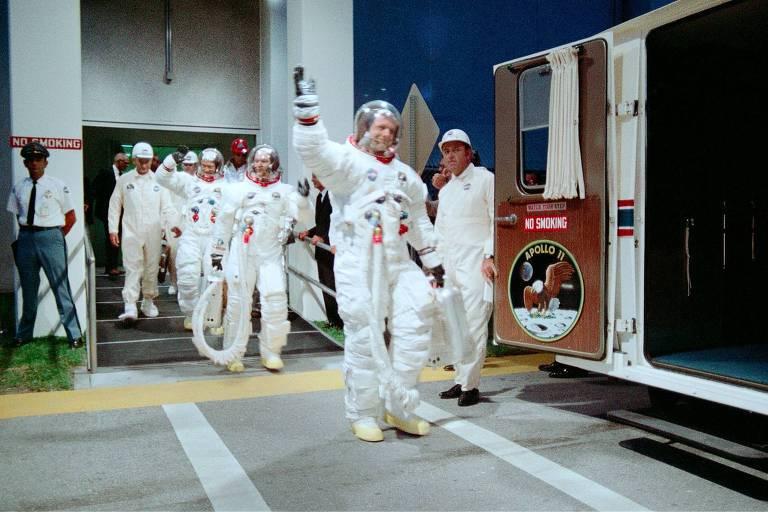"""Cena do documentário """"Apollo 11"""""""