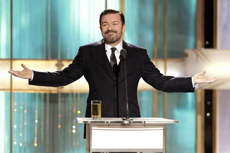 Ricky Gervais na 68ª edição do Globo de Ouro
