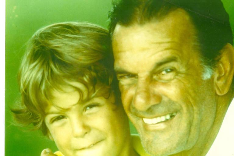 Diogo Tenuta com o avô Telê Santana