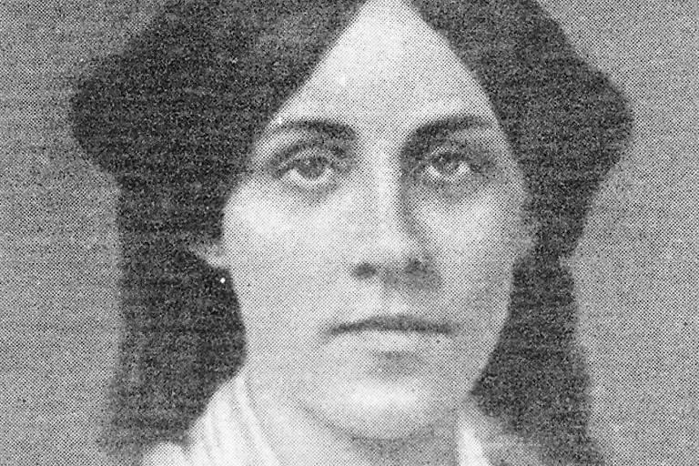 """A escritora norte-americana Louisa May Alcott, autora de """"Mulherzinhas"""""""