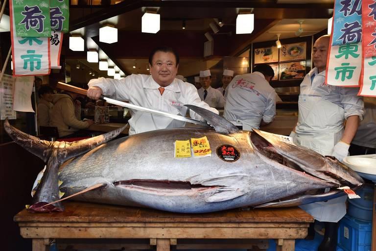 'Rei do atum' paga US$ 1,8 milhão por peixe de 276 kg