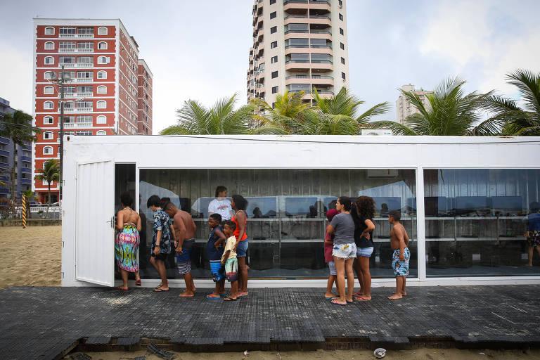 Arena de games na Praia Grande