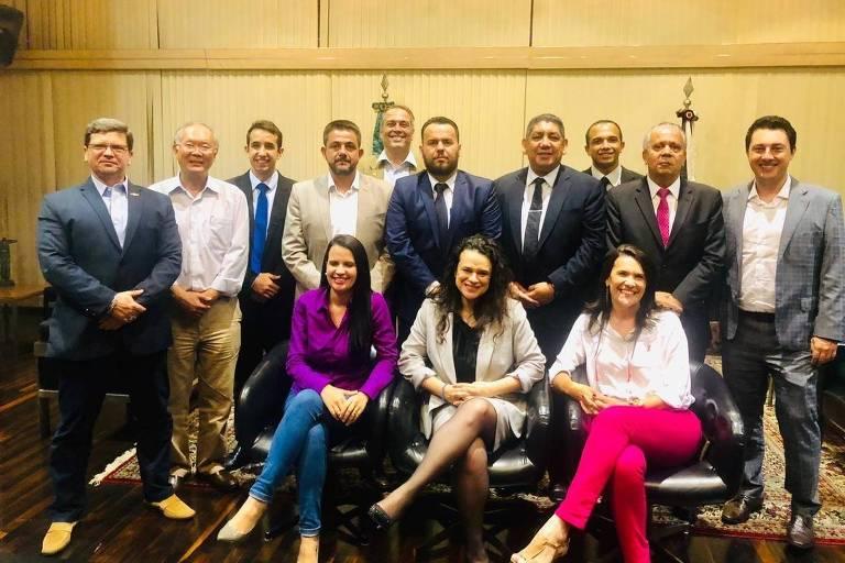 Reunião da bancada do PSL na Assembleia Legislativa de São Paulo