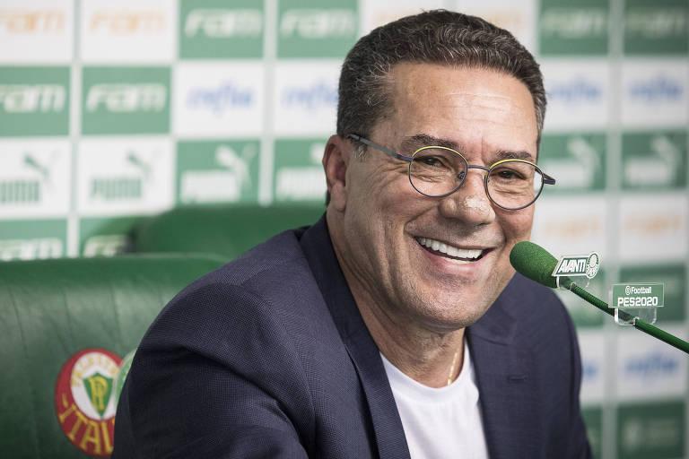O carioca Vanderlei Luxemburgo, 67, está de volta ao Palmeiras em 2020 para a sua quinta passagem pelo clube. Em 2019, ele dirigiu o Vasco