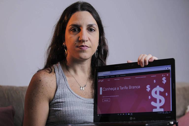 A promotora de eventos Viviane Santello, 37 anos, do Imirim (zona norte), relata que registrou reclamações na Enel, mas não adiantou nada