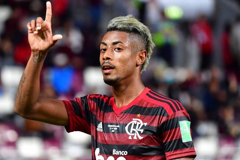 O atacante Bruno Henrique do Flamengo
