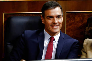 Investiture debate at the Parliament in Madrid