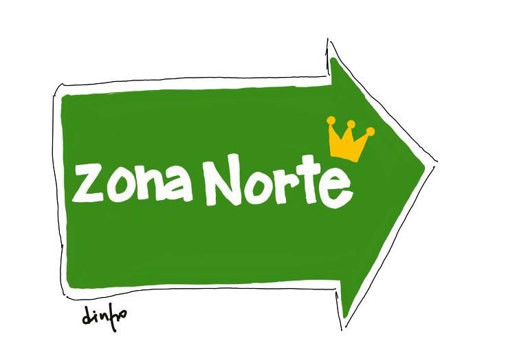 Ilustração 'zona norte'