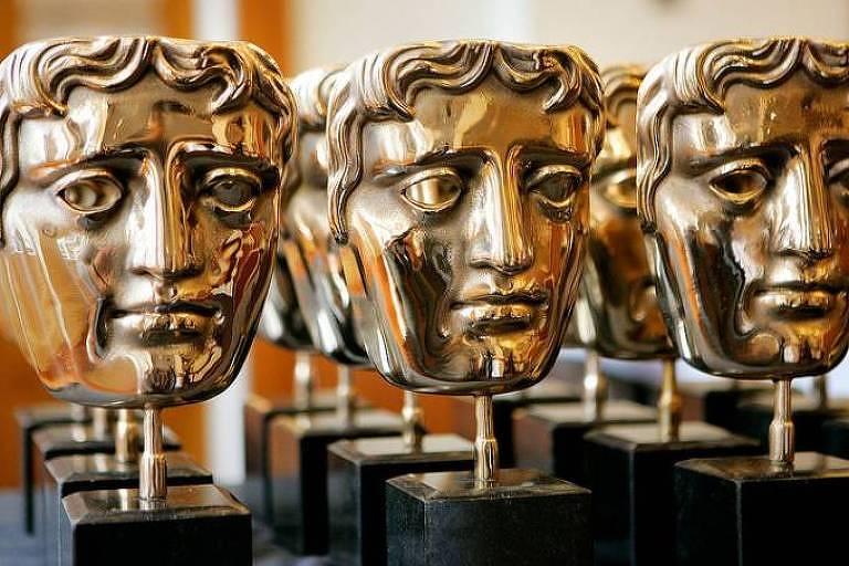 Estatuetas do BAFTA, o principal prêmio do cinema britânico