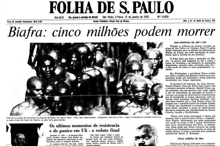 1970: Cai o último foco de resistência em Biafra depois de líder fugir