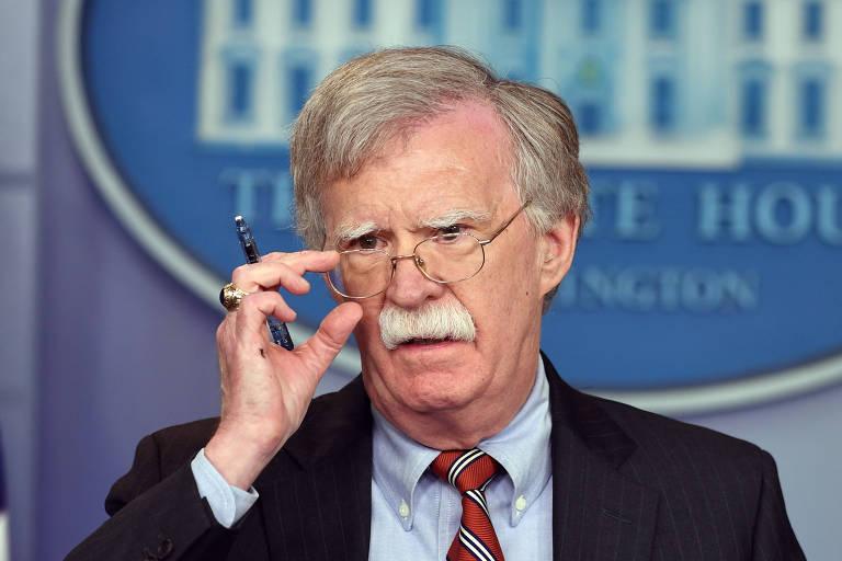 John Bolton durante evento na Casa Branca em 2018