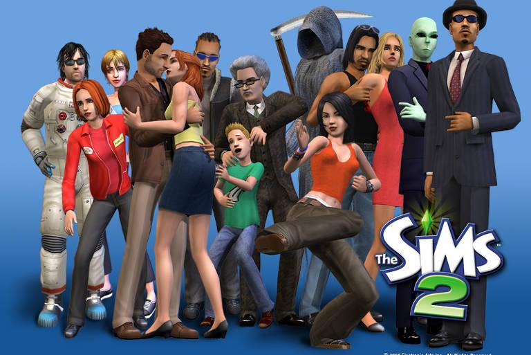 """Material de divulgação de """"The Sims 2"""""""