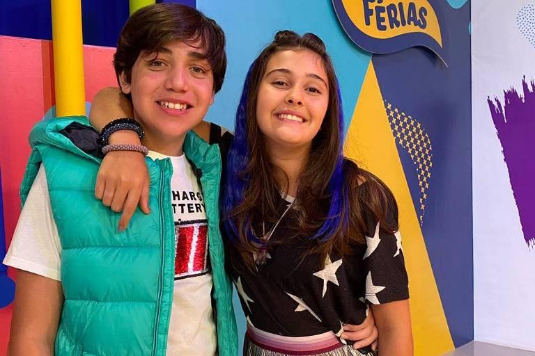 Pedro Motta e Nicole Orsini comandam o Rolê Gloob